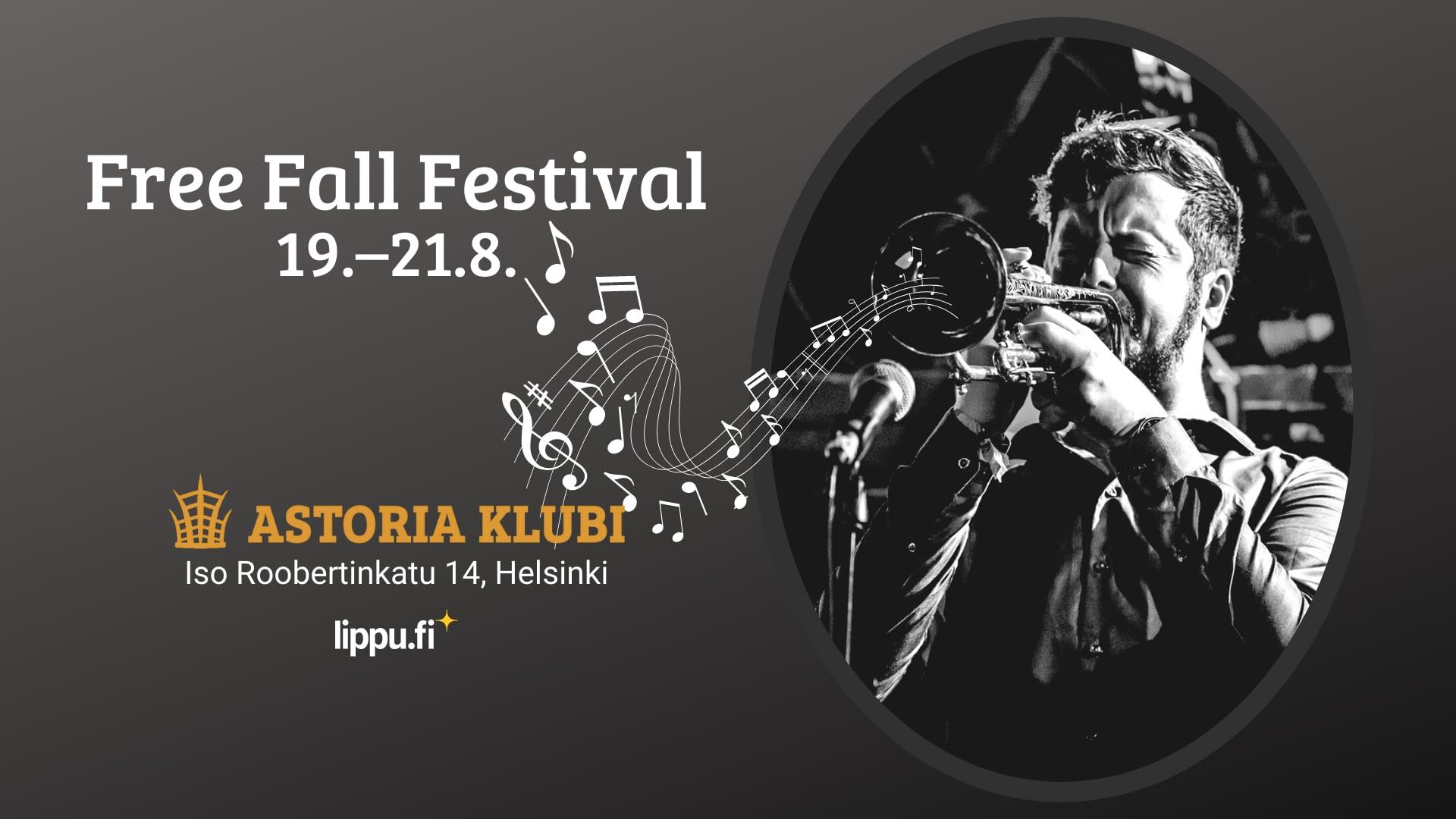 Free Fall Festival Astoria Klubilla